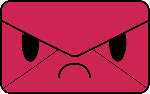 Angry Envelope - Hatemail Mascot